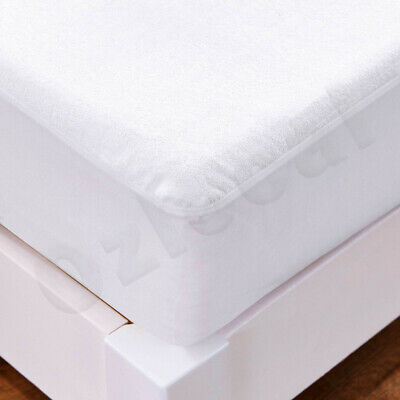 All Size Fully Fitted Terry Cotton Waterproof Mattress Protector Bed Soft Cover 5