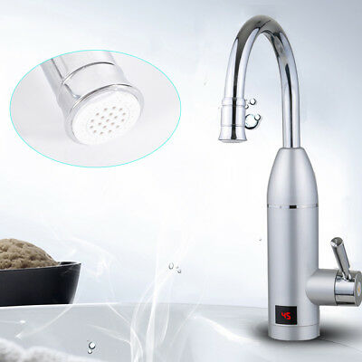 ... 220V Elektrische Wasserhahn Küche Waschbecken Heiß Armatur  Durchlauferhitzer 3KW 2