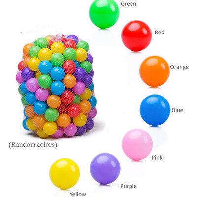100pcs Colorful Ball Soft Plastic Ocean Ball Funny Baby Kids Swim Pit Pool Toys 3