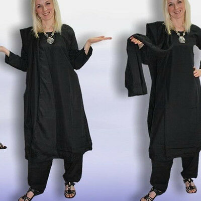 Salwar Kameez TGL 40 INDIA, Costume di Bollywood- Panjabee Nero hippie ind42 2