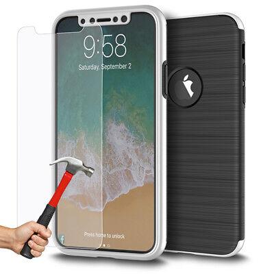 Coque Etui Intégrale 360° Protection iPhone 6/6S/Plus/7/8/X + Film Verre trempé 5