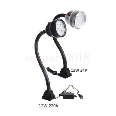 3W/6W/12W Waterproof Flexible LED Lamp Working Light Fixed Base CNC Mill Drill 8