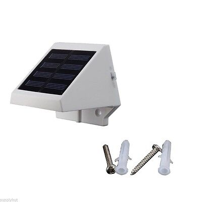 4 LED Solar Powered Stairs Fence Garden Security Lamp Outdoor Waterproof Light 4