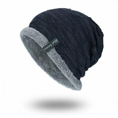 Winter Beanies Slouchy Chunky Hat for Men Women Warm Soft Skull Knitting Caps 7
