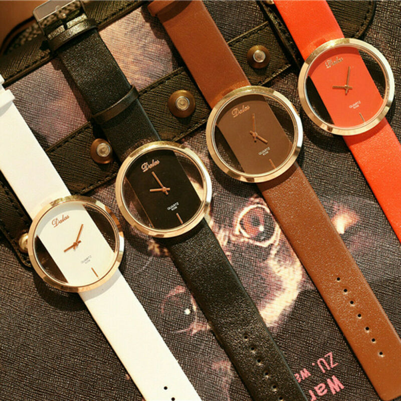 Fashion Girl Women Classic Casual Quartz Watch Leather Strap Wrist Watches Gift 7