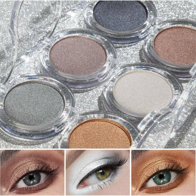 Glitter Eyeshadow Matte Shimmer Pigment Eye Shadow Pressed Metallic Shining Eyes 2
