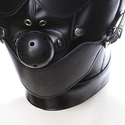 Sex Maske Fetisch Leder Mund Slave Ball Gag Erotische Produkt Spielzeug Bondage 2