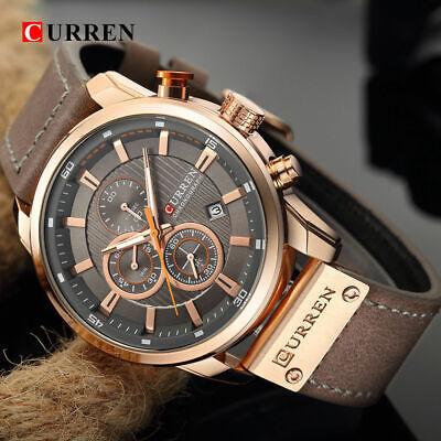Curren Mens PU Leather Band Strap Wristwatch Sports Military Quartz Watch 8291 2