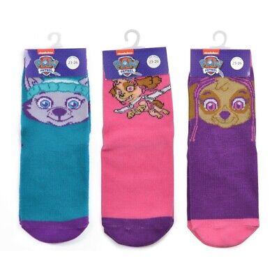 Kids 3 Pack Of Character Socks Boys Girls Disney Ankle School Socks 3 Pairs Size 7