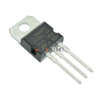 50PCS Positive Voltage Regulator IC ST TO-220 L7808CV L7808CV-DG L7808C L7808