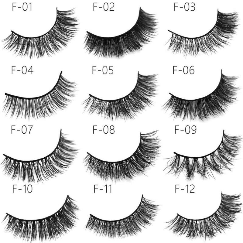 1 Pair 3D Mink Lashes False Eyelashes Long Lasting Lashes Natural Lightweight 10