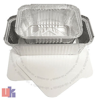 Aluminium Foil Hot Food Containers Box With Lids Perfect For Home Takeaway Use 3