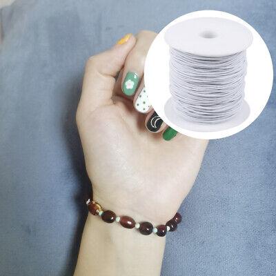 100M Rond Cordon Élastique Bande Couture Blanc pour Coudre Artisanat DIY 7