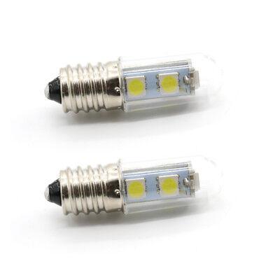 2X E14 3W 2.5W 1.5W LED Light Cooker Hood Chimmey Fridge Bulb White Warm White 9
