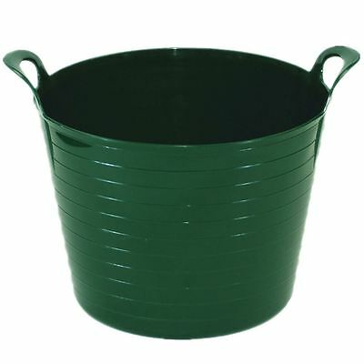 2 x LIME GREEN 42L 42 Litre Flexi Tub Garden Flexible Storage Container Value