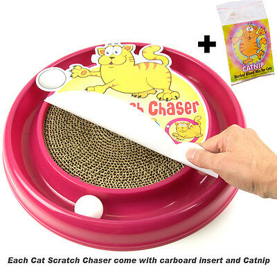 PetzTrendz® Cat Scratch Chaser FREE Cat-Nip - 3 Colours & Refills Available 2