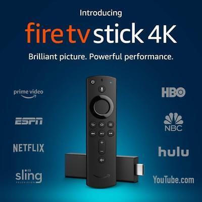 Amazon Fire TV Stick 4K w/ Alexa Voice Remote, Latest 2019 Version! 2