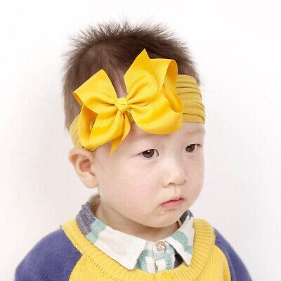 Girls Kids Baby Soft Bow Hairband Headband Sweet Turban Knot Head Wrap Cute Bow 6