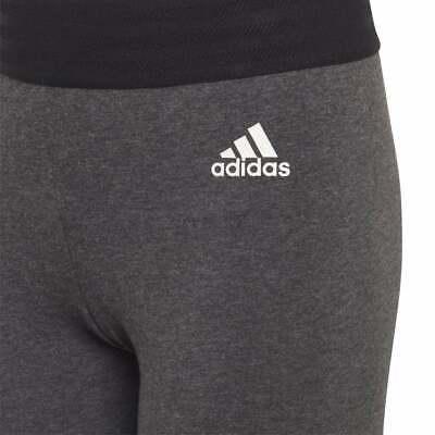 Adidas Girls ID Linear Tights Training Running Sports Grey Climalite Cotton new 4
