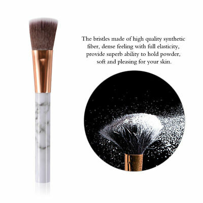 10pcs Kabuki Style Professional Make up Brush Set Foundation Blusher Face Powder 10