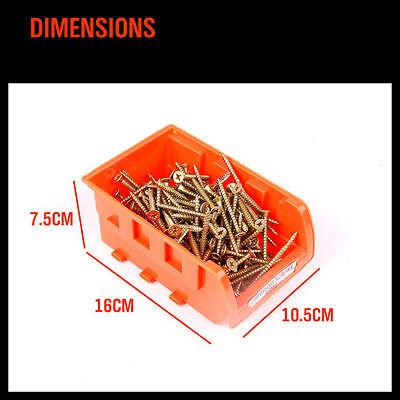 Wall Mounted Bins Rack Storage Parts Organiser Bin Boxes Workshop Tool Solution