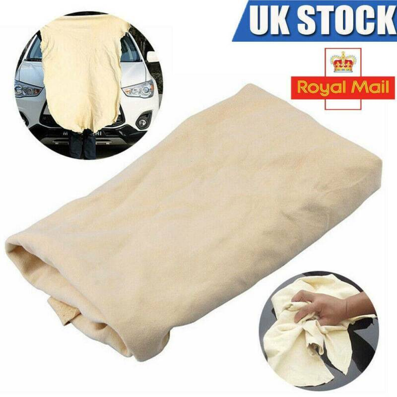 Car Cleaning Washing Drying Extra Large Towel Natural Chamois Leather Cloth 2