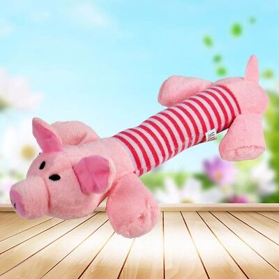 Pet Puppy Chew Squeaker Squeaky Plush Sound Pig Elephant Duck For Dog Toys 6