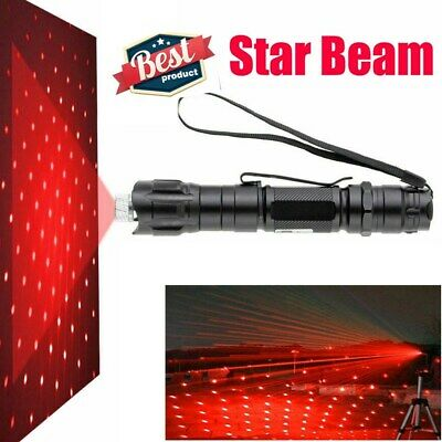 1MW 350Mile 650nm Visible Beam 2in1 Star Military Red Light Laser Pointer Pen AU 9