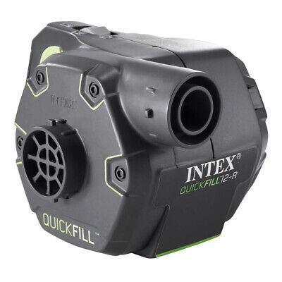 INTEX Quick Fill Elektrische Luftpumpe Aufladbar +Akku+ 12V + 230V mit 3 Adapter 3