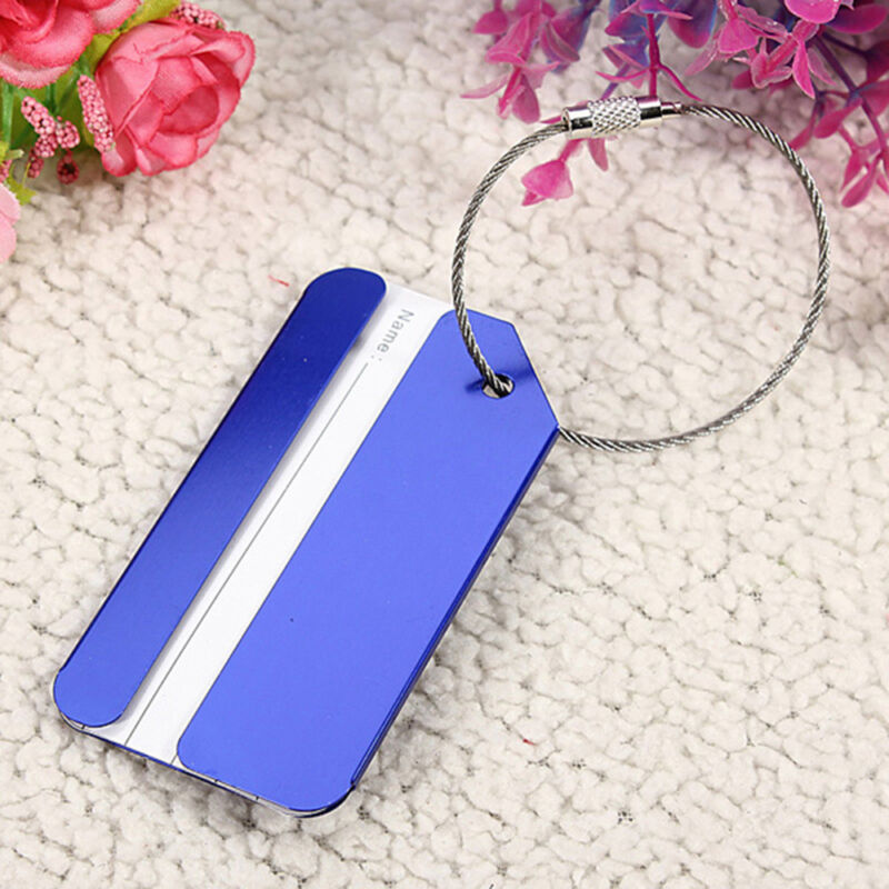 New Aluminium Metal Travel Luggage Baggage Suitcase Address Tags Label Holder CN 4