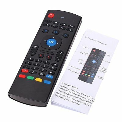 Wechip Mini Air Mouse Wireless Keyboard IR Remote Control Black For TV BOX P4T7