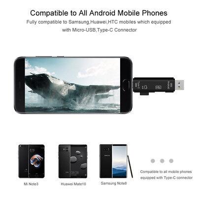 USB / USB Type C 3.1 / MicroUSB External Micro SD Card Reader OTG Adapter 10