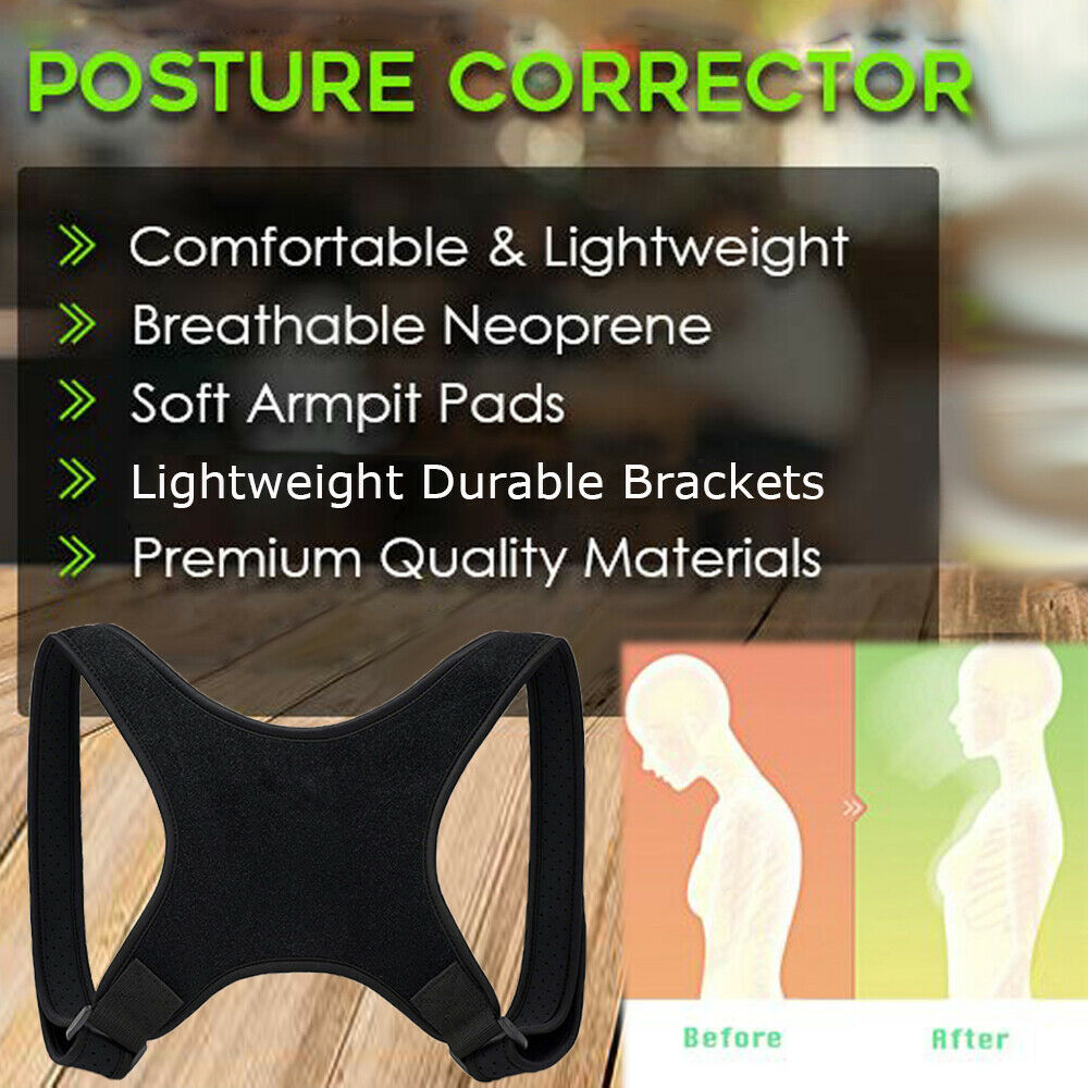 Posture Corrector Women Men Shoulder Brace Back Support Strap Belt Adjustable AU 2
