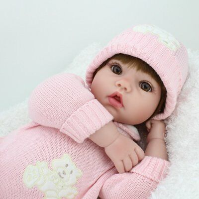 22'' Reborn Baby Dolls Realistic Vinyl Silicone Newborn Dolls Xmas Gift Girl Toy 3