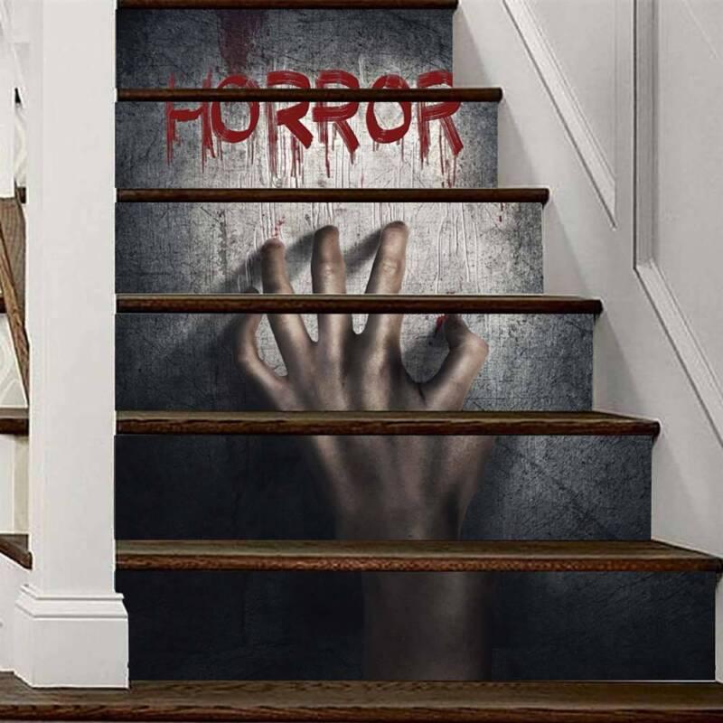 Wandtattoo Treppennummern Flur Treppenhaus Treppe Wandaufkleber Horror Halloween Eur 16 59 Picclick De