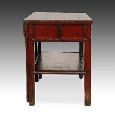 Antique Chinese Qing Opera Podium Table Elm Wood Furniture Hebei China 19Th C. 3