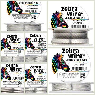 Zebra Wire Gold/Silver/Copper Round spool 12,14, 16, 18, 20, 22, 24, 26 28Gauge 2