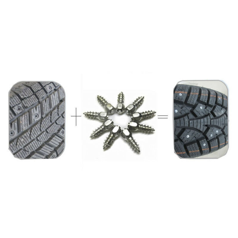 100Pcs Tires Anti-Slip Screw Studs for Car Truck SUV Anti-Skid Winter Driving 4