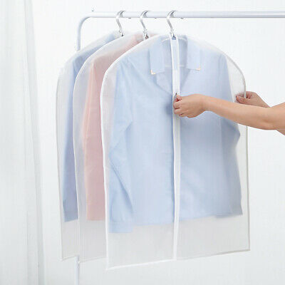 2/5Pack Reusable Suit Cover Clear Hanging Garment Storage Bags Clothes Protector 6