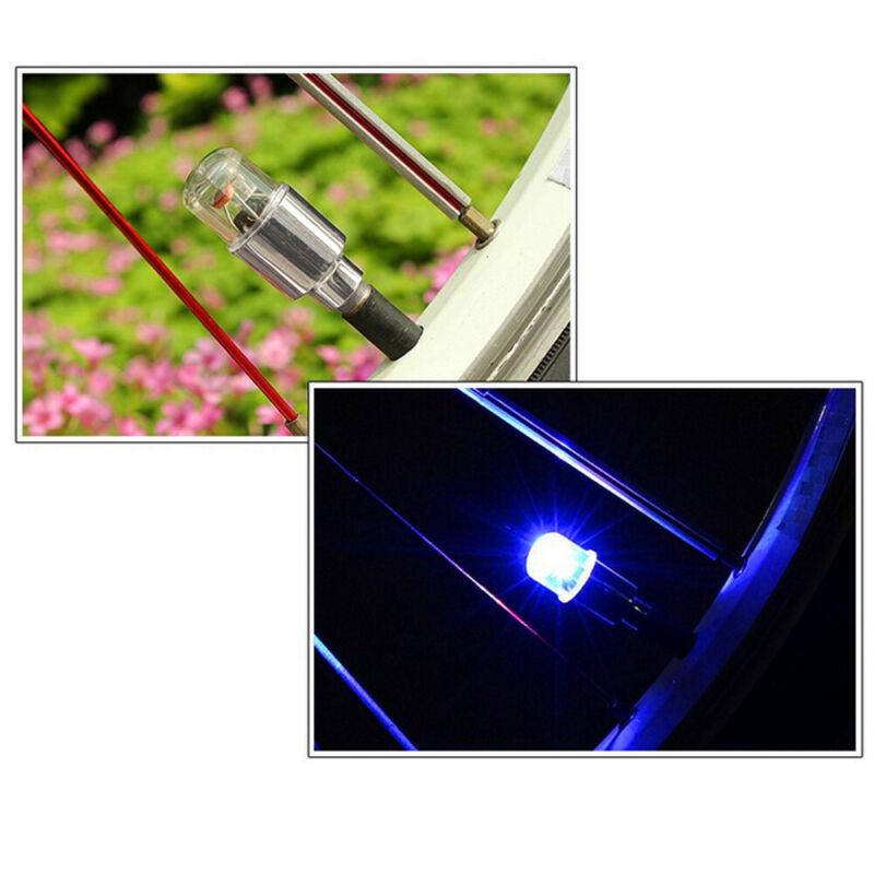 4x LED Dragonfly Car Wheel Tyre Decor Light Bulb Tire Air Valve Stem Cap Lamp 4