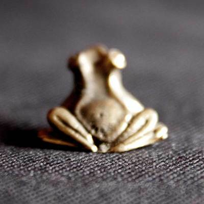 Frog miniature Figurine Statue brass Lucky animal Charm Rich Lucky Happy DAF
