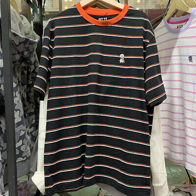 BTS BT21 Official Authentic Goods Striped Short Sleeve T-Shirt by Line Friends 8