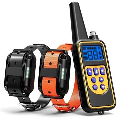1/2/3 Dog Shock Training Collar With Remote Rechargeable IP67 For Large 880 Yard 3