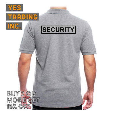 Mens Security Polo Shirt Law Enforment Police Shirts Safety Work Uniform Guard 11