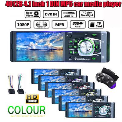 "4.1"" HD Single 1DIN Car Stereo Video MP5 Player Bluetooth FM Radio AUX USB SD TF 3"