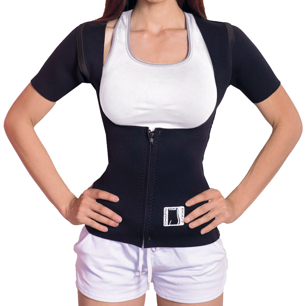 PLUS SIZES Sauna Suit Hot faja reductora Women  USA 100% Neoprene Vest Shaper Dames: kleding Shapewear