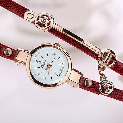 2016 Mode Femmes Montre Femmes acier inoxydable bracelet en cuir poignet montres 10
