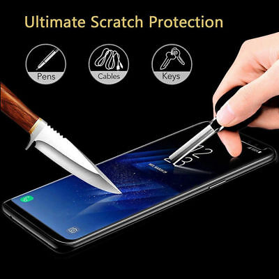 Case Friendly Tempered Glass Screen Protector Samsung Galaxy Note 9 S9 / S8 Plus 10