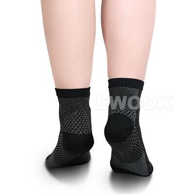 2 Pair Foot Sleeve Plantar Fasciitis Compression Socks Achy Swelling Heel Ankle 7