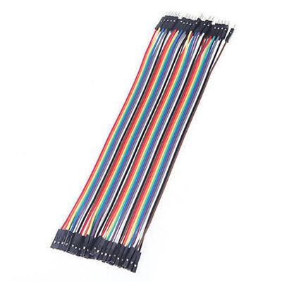40pc 10-30cm Dupont Jumper Wire Ribbon GPIO Cable Arduino Breadboard F-F/M-M/F-M 6